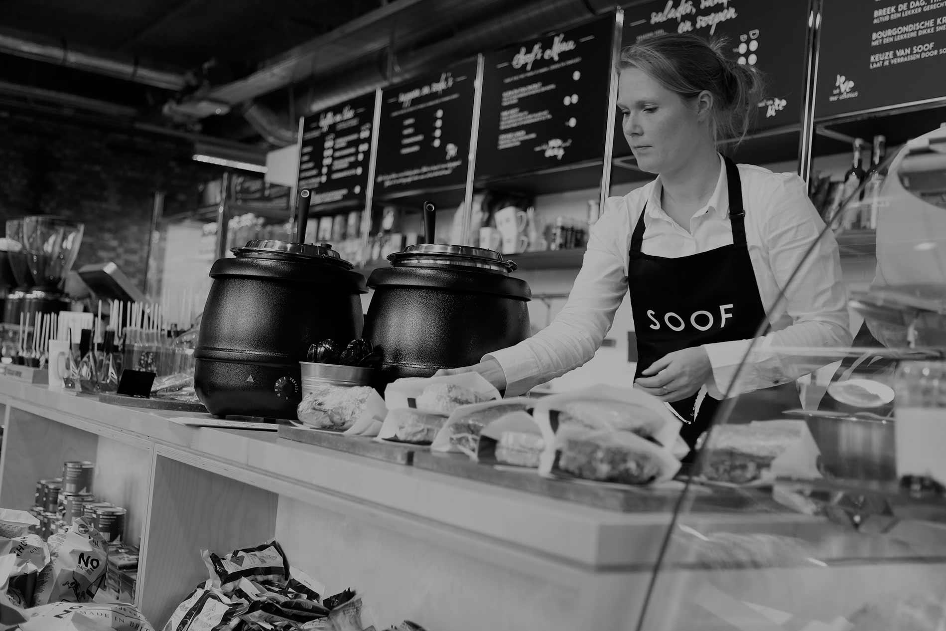 Counter bij Café SOOF